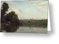 Washerwomen At The Oise River Near Valmondois Greeting Card