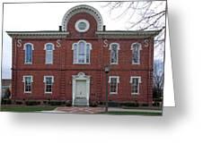 Washington And Franklin Hall Greeting Card