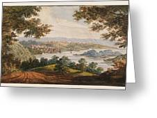 Washington And Georgetown From The Alexandria Road Greeting Card