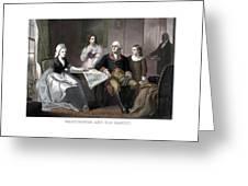 Washington And His Family Greeting Card