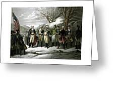 Washington And His Generals  Greeting Card