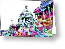 Washington Capitol Color 1 Greeting Card