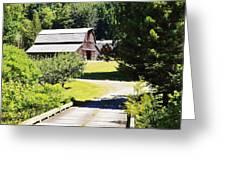 Washington Country Barn Greeting Card