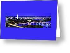 Washington Dc Dusk Greeting Card