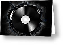 Washington Dc Skyline Vinyl 10 Greeting Card