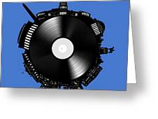 Washington Dc Skyline Vinyl 9 Greeting Card