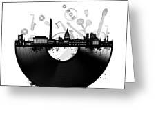 Washington Dc Skyline Vinyl Greeting Card