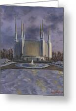Washington Dc Temple Greeting Card by Jeff Brimley