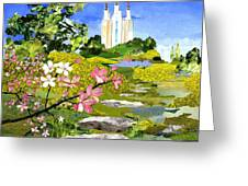 Washington Dc Temple Greeting Card by Robin Birrell