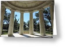Washington Dc Veteran's Memorial Greeting Card
