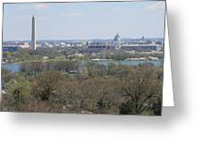Washington Dc View From Custis Lee House Greeting Card