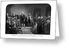 Washington Delivering His Inaugural Address Greeting Card