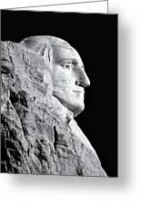 Washington Granite In Black And White Greeting Card