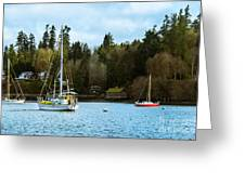 Washington Harbor Greeting Card