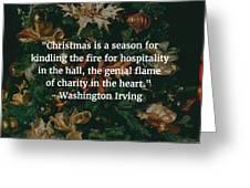 Washington Irving Quote Greeting Card