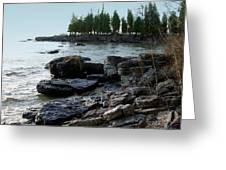 Washington Island Shore 1 Greeting Card