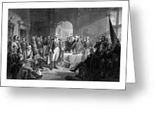 Washington Meeting His Generals Greeting Card
