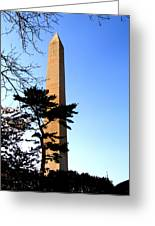 Washington Monument At Dusk Greeting Card