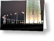 Washington Monument At Night Greeting Card by Artistic Photos
