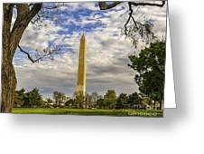 Washington Monument From The Mall Greeting Card