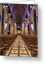 Washington National Cathedral Interior Greeting Card