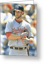 Washington Nationals Bryce Harper Greeting Card