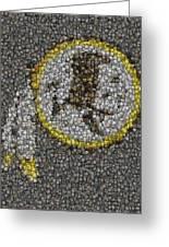 Washington Redskins Coins Mosaic Greeting Card