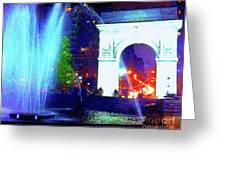 Washington Square Fountain 13c Greeting Card