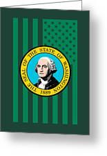 Washington State Flag Graphic Usa Styling Greeting Card