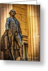 Washington Statue - Federal Hall #2 Greeting Card