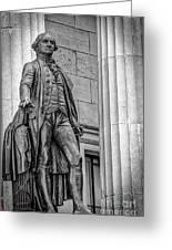 Washington Statue - Federal Hall #3 Greeting Card