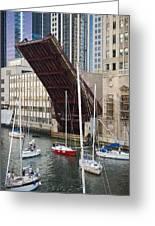 Washington Street Bridge Lift Chicago Greeting Card