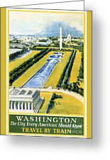 Washington Vintage Travel Poster Restored Greeting Card