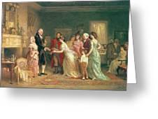 Washingtons Birthday Greeting Card by Jean Leon Jerome Ferris