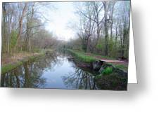 Washingtons Crossing - Along The Delaware Canal Greeting Card