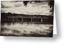 Washingtons Crossing Bridge Greeting Card