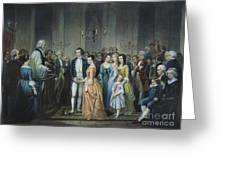Washingtons Marriage Greeting Card by Granger