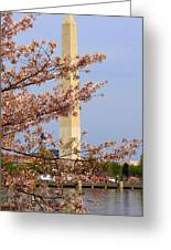 Washinton Monument In Spring Greeting Card