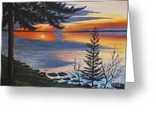 Waskesiu Sunset Greeting Card
