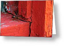Wasp And Red Greeting Card