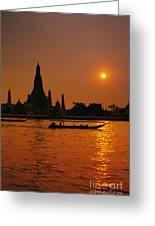 Wat Anun Temple Greeting Card