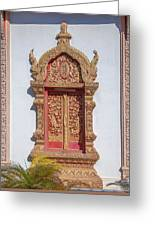 Wat Buppharam Phra Wihan Window Dthcm1581 Greeting Card