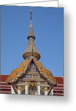 Wat Chaimongkron Phra Wihan Gable And Spire Dthcb0090 Greeting Card
