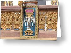 Wat Chedi Mae Krua Wihan Veranda Rail Decorations Dthcm1847 Greeting Card
