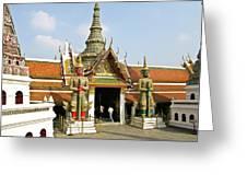 Wat Po Bangkok Thailand 16 Greeting Card