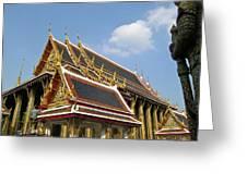 Wat Po Bangkok Thailand 24 Greeting Card