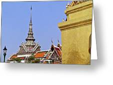 Wat Po Bangkok Thailand 6 Greeting Card