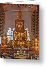 Wat Suan Dok Wihan Luang Buddha Images Dthcm0952 Greeting Card