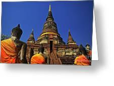 Wat Yai Chai Mongkol In Ayutthaya, Thailand Greeting Card