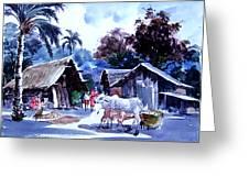 Watar Color Village Greeting Card